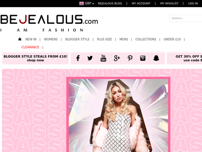 Bildschirmfoto für bejealous.com