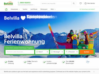 Bildschirmfoto für Belvilla