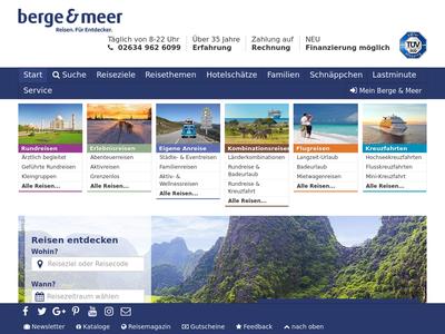 Bildschirmfoto für Berge & Meer