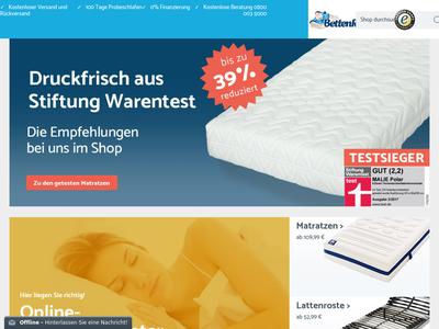 Bildschirmfoto für BettenRiese