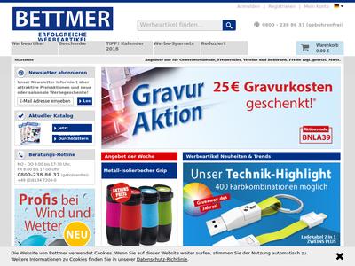 Bildschirmfoto für BETTMER