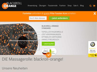 Bildschirmfoto für Blackroll Orange