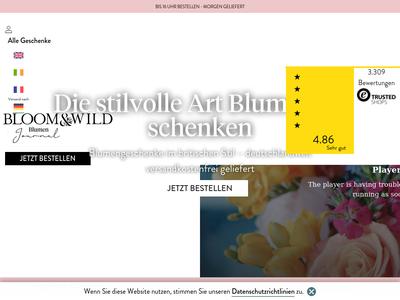 Bildschirmfoto für bloomandwild.de