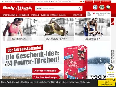 Bildschirmfoto für Body Attack Sports Nutrition