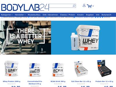 Bildschirmfoto für Bodylab24