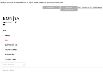 Bildschirmfoto für Bonita