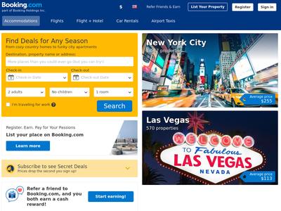 Bildschirmfoto für Booking.com