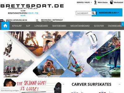 Bildschirmfoto für brettsport.de