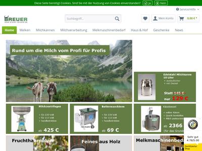 Bildschirmfoto für breuer-versand.de