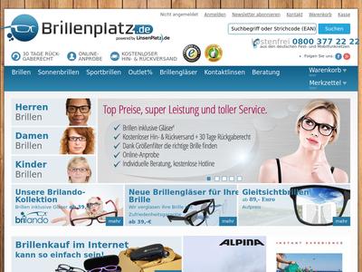 Bildschirmfoto für Brillenplatz