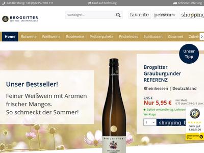 Bildschirmfoto für Brogsitter Weinversand