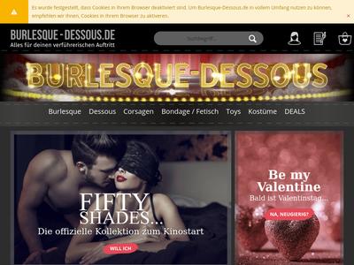 Bildschirmfoto für burlesque-dessous.de