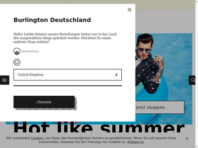 Bildschirmfoto für burlington.de