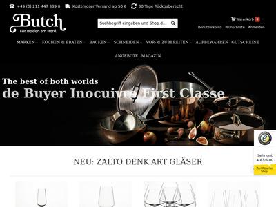 Bildschirmfoto für butch.de