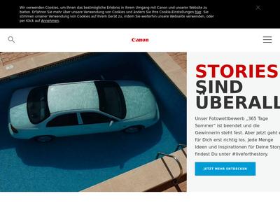 Bildschirmfoto für Canon