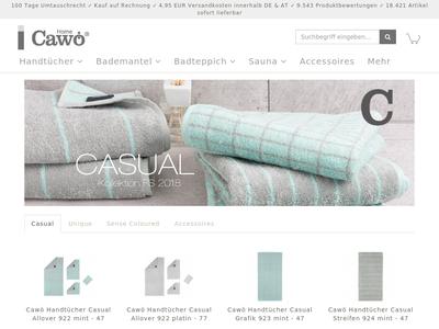 Bildschirmfoto für cawoe-shop.com