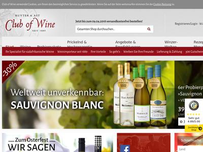 Bildschirmfoto für Club of Wine