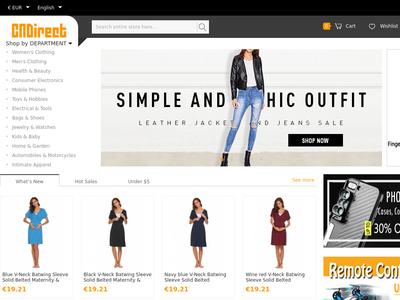 Bildschirmfoto für CNDirect.com
