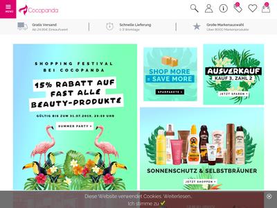 Bildschirmfoto für Cocopanda.de