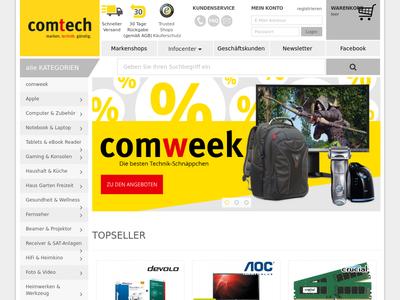 Bildschirmfoto für comtech
