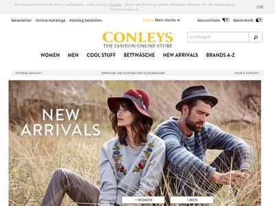 Bildschirmfoto für conleys.de