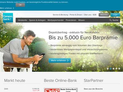 Bildschirmfoto für Consorsbank