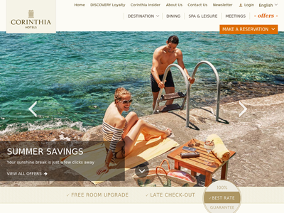 Bildschirmfoto für corinthia.com