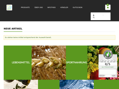 Bildschirmfoto für darmvital.net