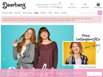 Bildschirmfoto für deerberg.de