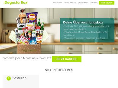 Bildschirmfoto für Degustabox