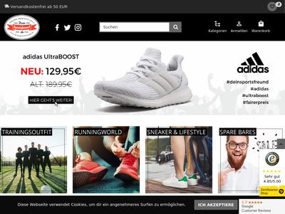Bildschirmfoto für DeinSportsfreund.de