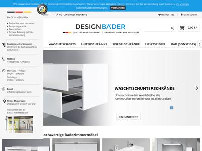 Bildschirmfoto für designbaeder.com