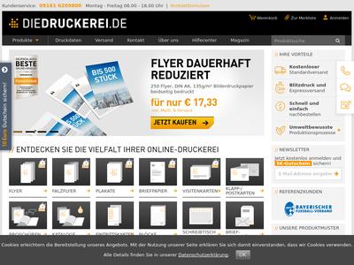 Bildschirmfoto für diedruckerei.de