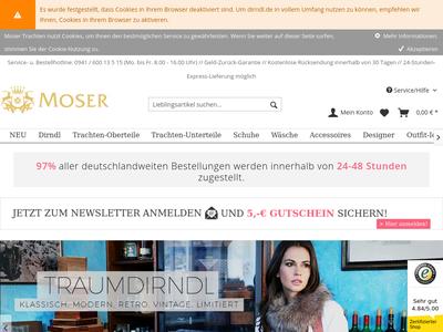 Bildschirmfoto für dirndl.de