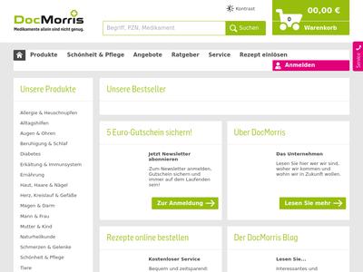 Bildschirmfoto für DocMorris