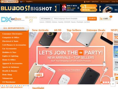 Bildschirmfoto für DealeXtreme