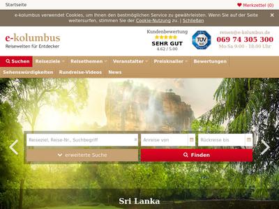 Bildschirmfoto für e-Kolumbus