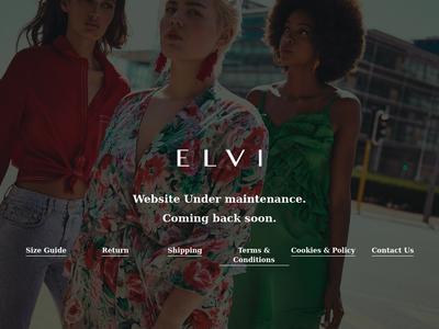 Bildschirmfoto für elvi.co.uk
