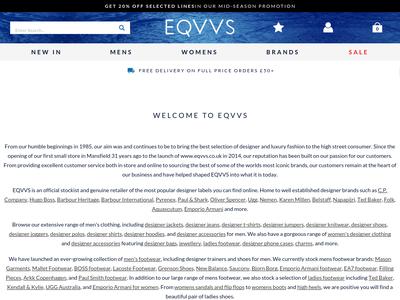 Bildschirmfoto für eqvvs.co.uk