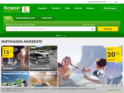 Bildschirmfoto für europcar