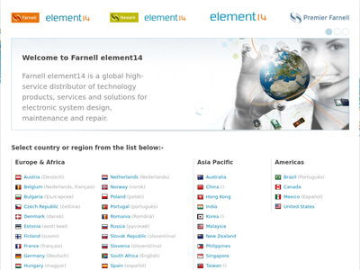 Bildschirmfoto für farnell element14