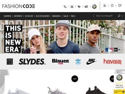 Bildschirmfoto für Fashioncode
