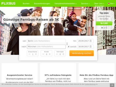 Bildschirmfoto für FlixBus