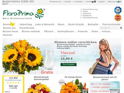 Bildschirmfoto für floraprima