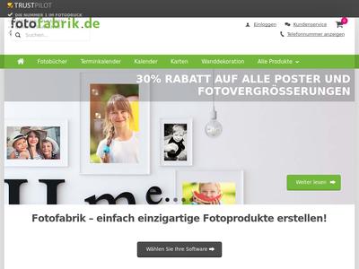 Bildschirmfoto für Fotofabrik
