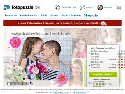 Bildschirmfoto für Fotopuzzle.de