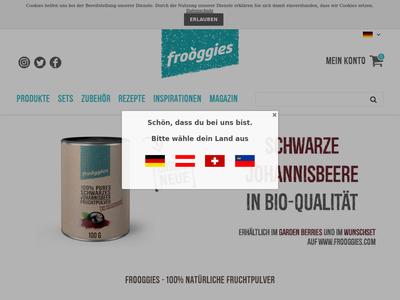 Bildschirmfoto für Frooggies