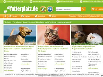 Bildschirmfoto für Futterplatz.de