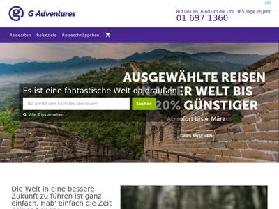 Bildschirmfoto für G Adventures