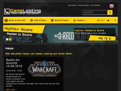 Bildschirmfoto für gamelooting.com